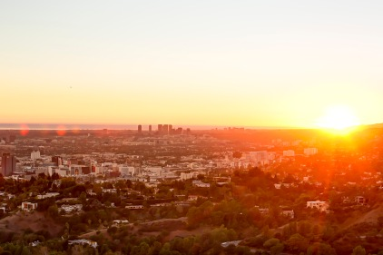 Los Angeles Sunset Cityscape