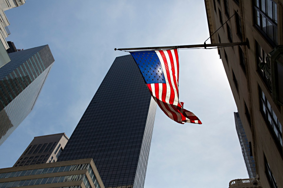 New York City American Flag